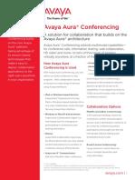 AvayaAuraConferencing Fact Sheet