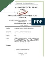 CARACTERÍSTICAS DEL FINANCIAMIENTO EN EL DESARROLLO DE LAS LABORES AGROPECUARIAS EN EL DEPARTAMENTO DE LA LIBERTAD PERIODO 2014-2015.