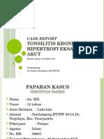 Case Report Tonsilitis Hani