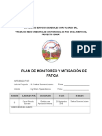 Plan de Monitoreo y Mitigación de Fatiga Chiry Florida Srl