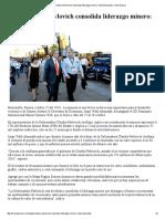 25-10-16 Gobernadora Pavlovich consolida liderazgo minero. - Canal Sonora