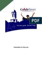 King Lear GradeSaver ClassicNote
