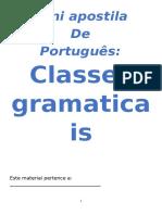 Classes Gramaticais Resumao