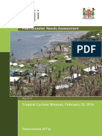 Fiji - Post-Disaster Needs Assessment TC Winston - 20 Feb 2016