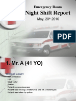 Night Shift Report 20 Mei 2010