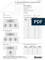 Dsd and Dsdq Shear Load Connector Design Sheet 0815