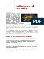 La Investigación en El Marketing