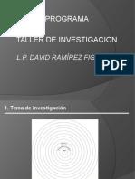 Taller Proyecto Investigacion