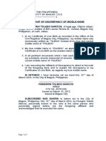 8. Affidavit of Discrepancy (Middle Name).docx