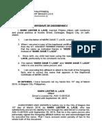 Affidavit of Discrepancy (Baptismal Certificate).doc