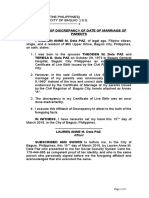 7. Affidavit of Discrepancy (Date of Marriage of Parents).docx