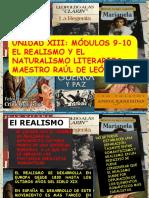 Unidad Xiii Mòdulo 9-10 Realismo y Naturalismo Literarios