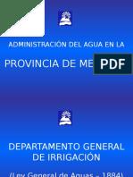 Administración del Agua en Mendoza, Argentina