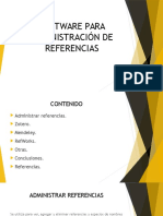 Software Para Administración de Referencias