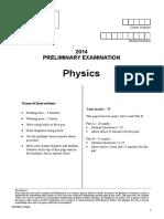 QAT Prelim Exam 2014