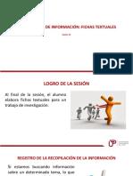 Sesion 11 Recopilacion de Informacion Fichas Textuales