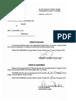 Order of Recusal Judge Steven Rogers 2013-CA-00115
