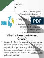 15 Pressure Groups