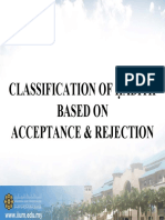 RKQS 2021 Classification Based on Acceptance PPT