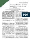 Study on the Presence of Inter-Area Oscillation