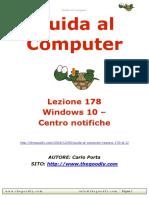 Guida al Computer - Lezione 178 - Windows 10 - Centro notifiche