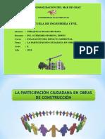 Participacion Ciudadana en Obras de Construccion