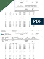 Wellbore Deviation survey