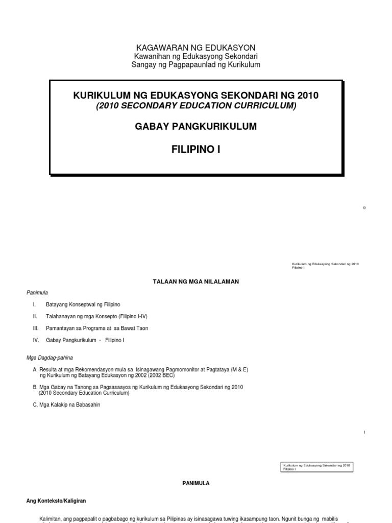 the 2010 secondary education curriculum of the deped Download downloadable in public elementary and secondary schools 2010 basic education curriculum for the standard curriculum as authorized under deped order.