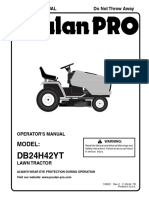 Poulan DB24H42YT Lawn Mower User Manual