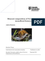 Mineral Composition of New Zealand Monfloral Honey