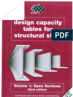 Design Capacity Tables for Structural Steel - Open Sections