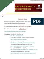 Cast Iron Price Calculator - Gray Iron, Ductile Iron