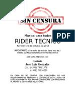 Rider Tecnico Remoto Control 6
