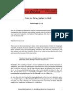Romans Bible Study 12