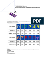 Arduino and GUVA-S12SD UV Sensor