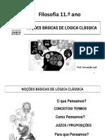 1. NOÇÕES BÁSICAS DE LÓGICA 2016-2017