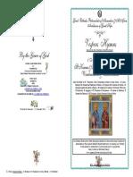 2016 -1 Nov - Vespers -St Kosmas & St Damianos