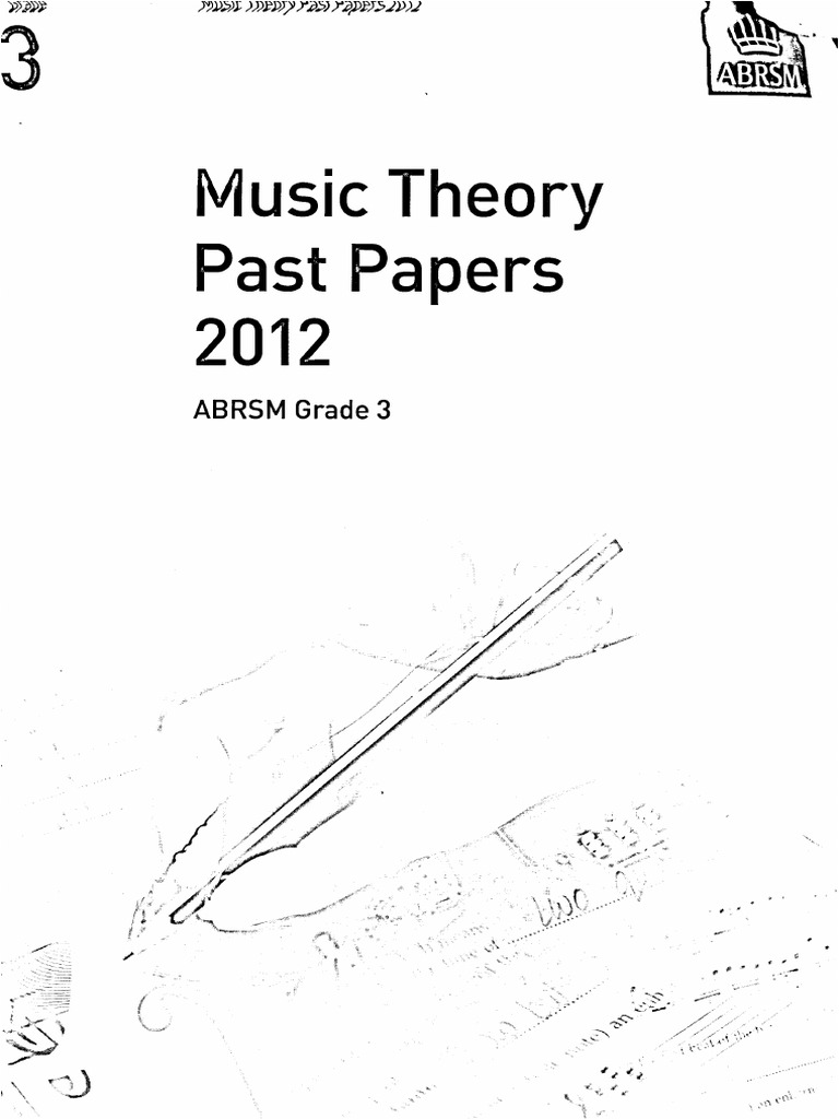 ABRSM Music Theory Past papers 2012