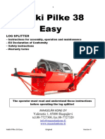 Hakki Pilke Easy 38 Operators Manual Schematics