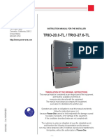 Manual Invertor TRIO 27.6