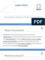 Discussion 02 Procurement & Tendering 20 09