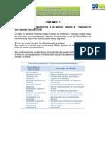 Unidad 5 Los Factores de Proteccion y de Riesgo