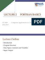 CE2409 L2 Fortran Basics
