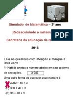 Simulado 3º Ano Matemática