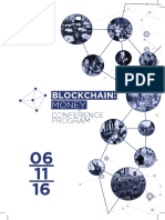 Blockchain Money London 2016 Program