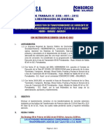 Plan de Corte de Energia SE Huari (Rep CT´s MT)