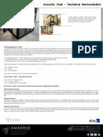 Acoustic Rooms Technical Memorandum