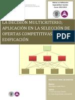 La Decision Multicriterio Aplicacion en La Seleccion de Ofertas Competitivas en Edificacion-libre