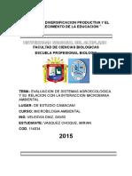 AGROECOLOGIA Y LA RELACION MICROBIANA CON EL MEDIO AMBIENTE