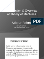 Lecture 1 Theory of Machines